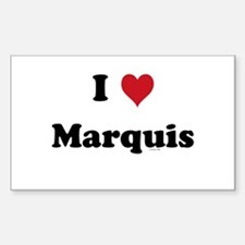 I love Marquis Rectangle Decal