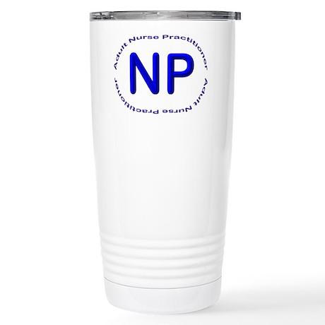 Big Blue NP Circle Stainless Steel Travel Mug