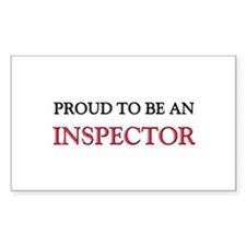 Proud To Be A INSPECTOR Rectangle Decal