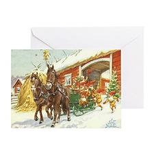 Funny Glaedelig jul Greeting Card