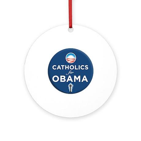 Catholics for Obama Ornament (Round)