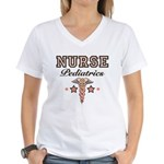 Pediatrics Nurse Women's V-Neck T-Shirt