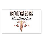 Pediatrics Nurse Rectangle Sticker 50 pk)