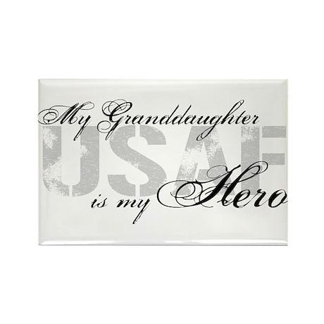 Granddaughter is my Hero USAF Rectangle Magnet