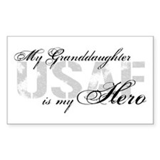 Granddaughter is my Hero USAF Rectangle Decal