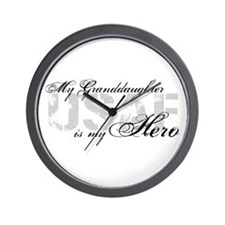 Granddaughter is my Hero USAF Wall Clock