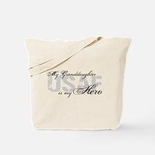 Granddaughter is my Hero USAF Tote Bag