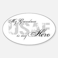 Grandma is my Hero USAF Oval Decal