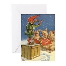 Unique Glaedelig jul Greeting Cards (Pk of 10)