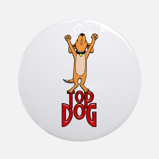 Top Dog Ornament (Round)
