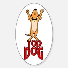 Top Dog Oval Decal