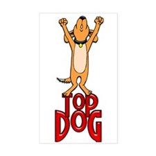 Top Dog Rectangle Decal