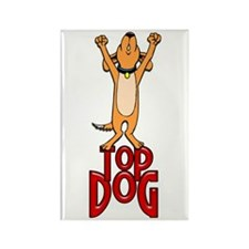 Top Dog Rectangle Magnet