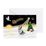Night Flight/Corgi (BM) Greeting Card