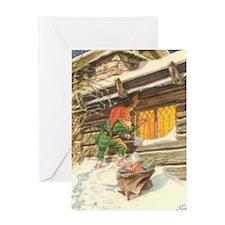 Cute Glaedelig jul Greeting Card