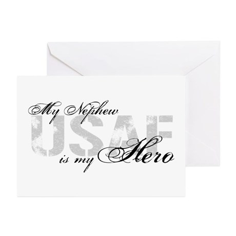 Nephew is my Hero USAF Greeting Cards (Pk of 10)