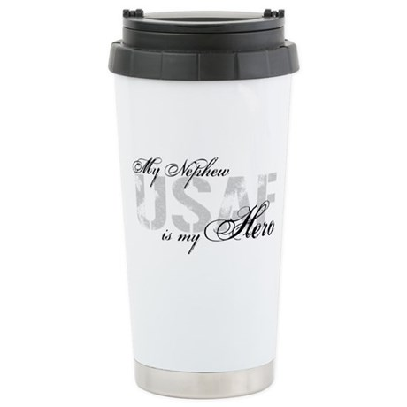 Nephew is my Hero USAF Stainless Steel Travel Mug