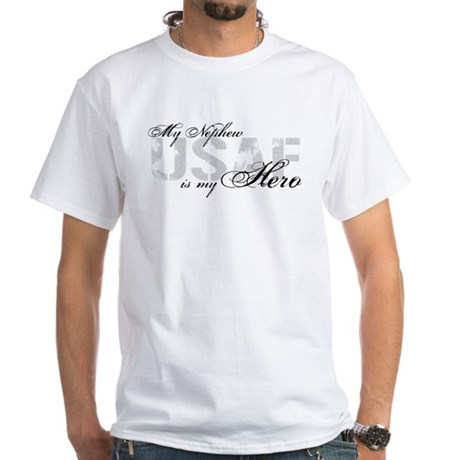 Nephew is my Hero USAF White T-Shirt