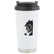 Sherlock Holmes Profile Travel Mug