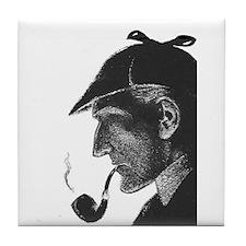 Sherlock Holmes Profile Tile Coaster
