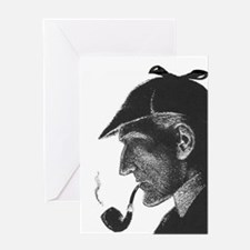 Sherlock Holmes Profile Greeting Card