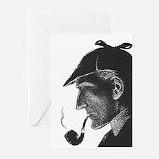 Sherlock Holmes Profile Greeting Cards (Pk of 20)