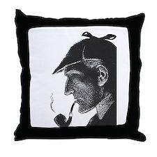 Sherlock Holmes Profile Throw Pillow