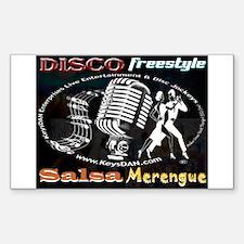 KeysDAN Disco Freestyle Salsa Rectangle Decal