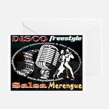 KeysDAN Disco Freestyle Salsa Greeting Card