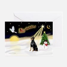 Night Flight/Dobie #1 Greeting Card