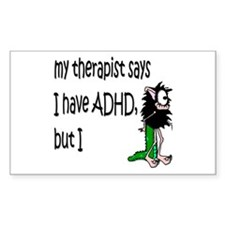 ADHD Rectangle Decal