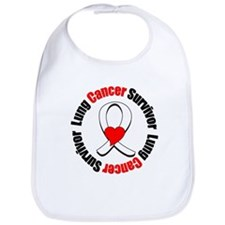Lung Cancer Survivor Heart Bib