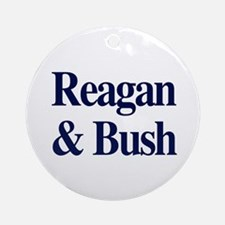 Reagan Bush 1980 Ornament (Round)