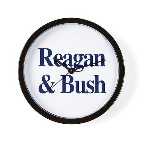 Reagan Bush 1980 Wall Clock