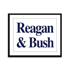Reagan Bush 1980 Framed Panel Print