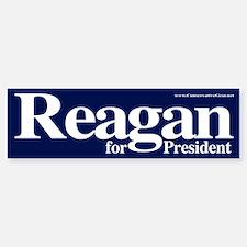 Reagan for President Bumper Car Car Sticker