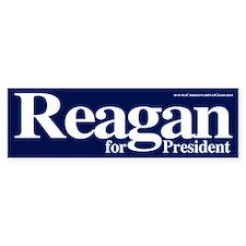 Reagan for President Bumper Car Sticker