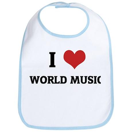 I Love World Music Bib