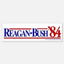 Reagan Bush 1984 Bumper Car Car Sticker