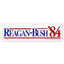 Reagan Bush 1984 Bumper Car Sticker
