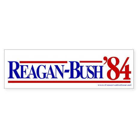 Reagan Bush 1984 Bumper Sticker