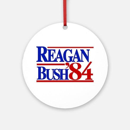 Reagan Bush 1984 Ornament (Round)