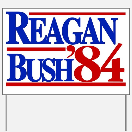 Reagan Bush 1984 Yard Sign