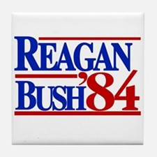 Reagan Bush 1984 Tile Coaster