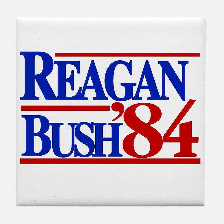 Reagan Bush 1984 Tile Coaster