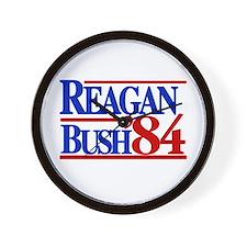 Reagan Bush 1984 Wall Clock