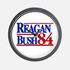 Reagan Bush 1984 Wall Clock