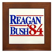 Reagan Bush 1984 Framed Tile