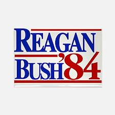 Reagan Bush 1984 Rectangle Magnet