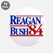 """Reagan Bush 1984 3.5"""" Button (10 pack)"""